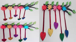 diy wall decor home decoration idea with paper card board