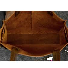 Handmade Leather Tote Bag - aetoo rclassic european and american style handmade leather tote