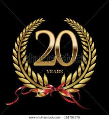20 yr anniversary 20th anniversary stock images royalty free images vectors