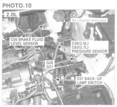 kia sportage questions location of reversing light switch for