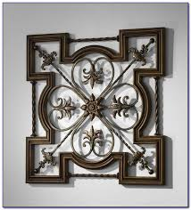 Large Wrought Iron Wall Decor Wrought Iron Wall Decor With Wood Frame Decorating Home