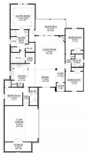 split floor plans four bedroom triple house plan intended
