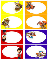 paw patrol free birthday party printables delicate construction