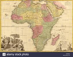 Map If Africa by 1725 English Map Of Africa Identifying Kingdoms And Within The