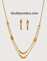 chain necklace gold designs images Light weight gold balls necklace gold as traditi jpg