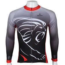 thermal cycling jacket pure lion king sportswear mens winter thermal cycling jersey long