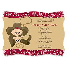 western baby shower cowboy western personalized baby shower invitations