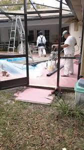 Painting Aluminum Screen Enclosures by Pool Cage Painting Youtube