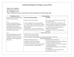 high lesson plan template 3 free word documents