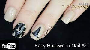 diy halloween nail art classy witch hat design 2 youtube