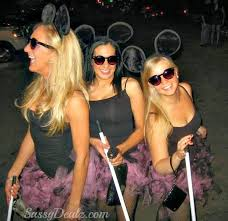 Womens Homemade Halloween Costume Ideas Diy 3 Blind Mice Group Halloween Costume Idea Women Group