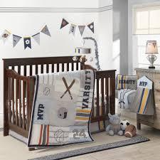 Lambs And Ivy Mini Crib Bedding by Lambs U0026 Ivy R Varsity Gray Blue Sports 4 Piece Crib Bedding Set