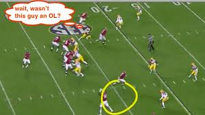 Flag Football Running Plays Explaining Alabama U0027s Awesome Fat Guy Trick Play That Helped Beat