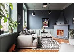 black brick wall modern living room scandinavian homes dotcomol