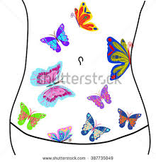butterflies my stomach stock illustration 387735049