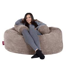 Oversize Bean Bag Chairs Lounge Pug Large Bean Bag For Adults Giant Beanbag Uk Cord Mink