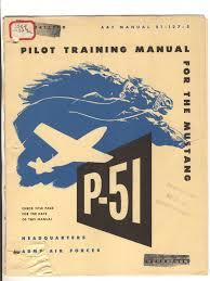 north american p 51 mustang pilot training manual