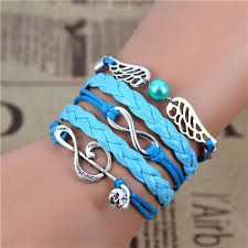 vintage infinity bracelet images Free shipping fashion vintage infinity anchor hook artificial jpg
