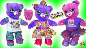 shopkins build a bear bears with surprise exclusive shopkin