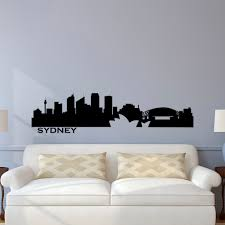 sydney skyline wall decal city silhouette cityscape australia details sydney skyline wall decal city silhouette cityscape australia sydney wall decals