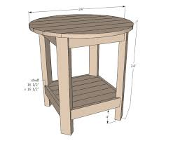 ana white rhyan end table diy projects end table size tables designs dimensions rhyan classic golfocd com