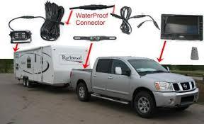 wireless car backup camera color monitor rv truck trailer rear