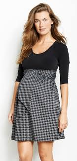 maternal america maternal america houndstooth front tie maternity dress