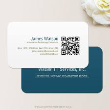 Business Card With Qr Code Qr Code Consultant Business Card Calling Card Mommy Card