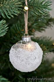clear christmas ornaments ten handmade ornaments in an hour