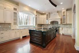 Kitchen Island Construction Kitchen And Island In New Construction Home Stock Photo Image