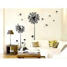 stickers pas cher pour chambre stickers muraux romantique salon décoration de chambre de pissenlit