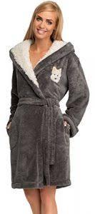 robe de chambre en velours femme joop 1638 peignoir en velours pour femme coton cassis 283