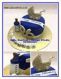 cute golden u0026 blue designer birthday cakes for boyfriend or