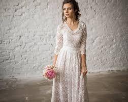 wedding dress vintage boho wedding dress etsy