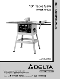 Shopmaster Table Saw Delta 36 600 User Manual 29 Pages