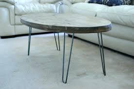 hairpin leg coffee table round diy hairpin leg coffee table coffee tables reclaimed wood coffee