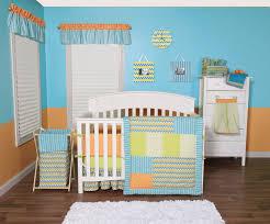 Orange Crib Bedding Sets Blue And Orange Nursery Crib Sets Bedding For Baby And Boys