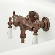 Bathtub Faucet With Diverter For Shower Clawfoot Tub Diverter Valve Bathroom