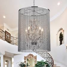 Chandeliers Overstock Rosalias Chain Crystal Chandelier Free Shipping Today