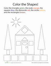 shape coloring kindergarten shapes worksheets and kindergarten