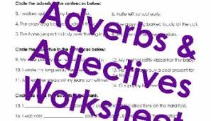 adjectives u0026 adverbs 2 free worksheet squarehead teachers