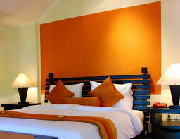 perfect orange color bedroom walls inspirations interior decoration