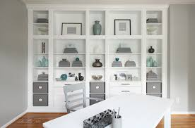 bookshelves with storage hemnes custom built in storage unit ikea hackers ikea hackers
