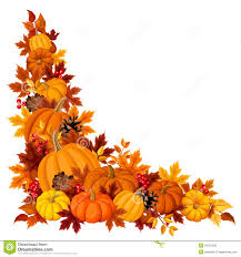 halloween background leaves corner background with pumpkins and autumn leaves vector