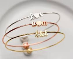 Personalized Engraved Bracelets Personalized Engraved Gold Name Bracelet Cuff Bangle Gold Bracelet