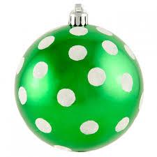 100mm polka dot polka dot ornament shiny emerald green white