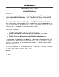 Sample Resume For Secretary by Best Administrative Assistant Cover Letter Examples Livecareer