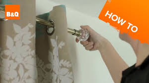 How To Make Curtains Hang Straight How To Put Up A Curtain Pole Youtube