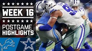 lions vs cowboys nfl week 16 highlights