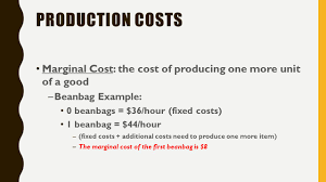 marginal costs economics bell work tuesday march 29 th what is the setting of